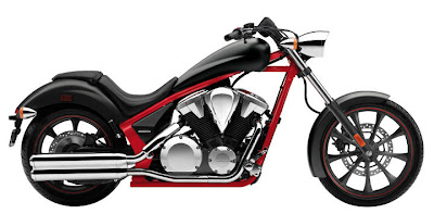 2012 Honda Fury Matte Black/Red Color