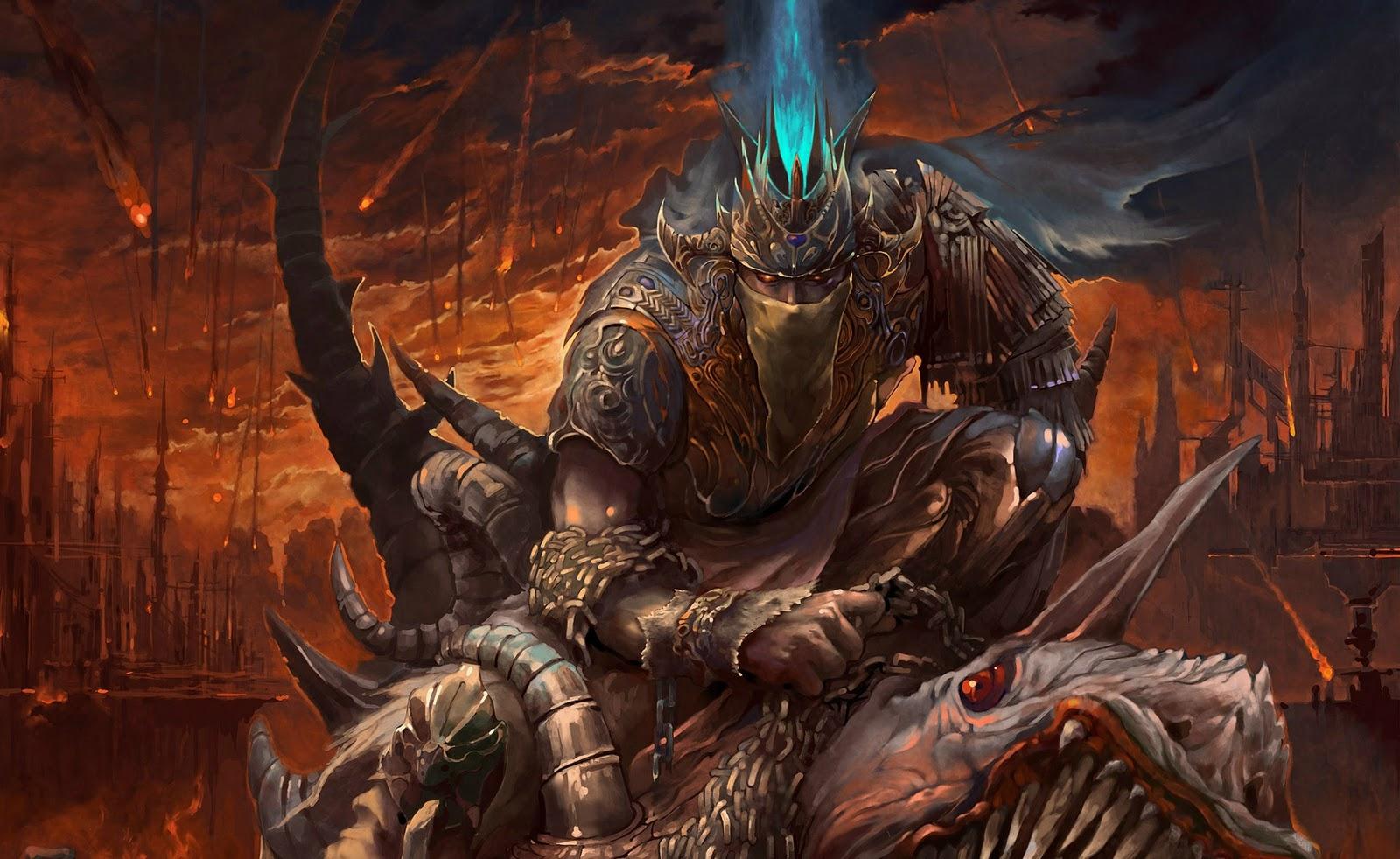 wallpaper land dark warrior