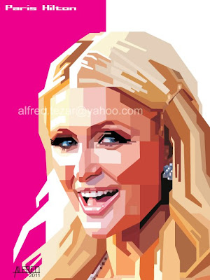 Paris Hilton-manual tracing wpap tanpa curva