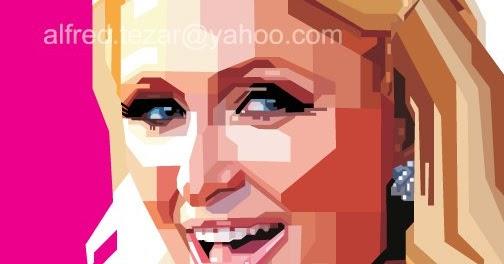 Paris Hilton | Menggambar Vektor