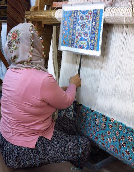 Crafting Handmade Rugs In Goerme Turkey