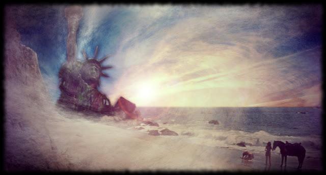 Escena mítica de El Palneta de los Simios