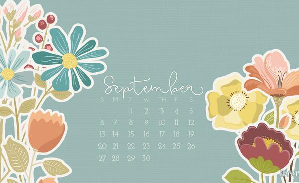 September Desktop Calendar - Owl-ways Be Inspired