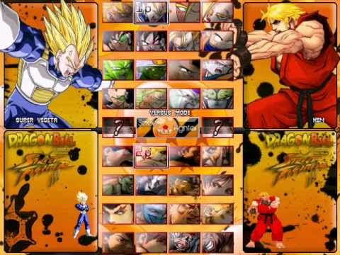 Characters Dragon Ball VS Street Fighter III PC