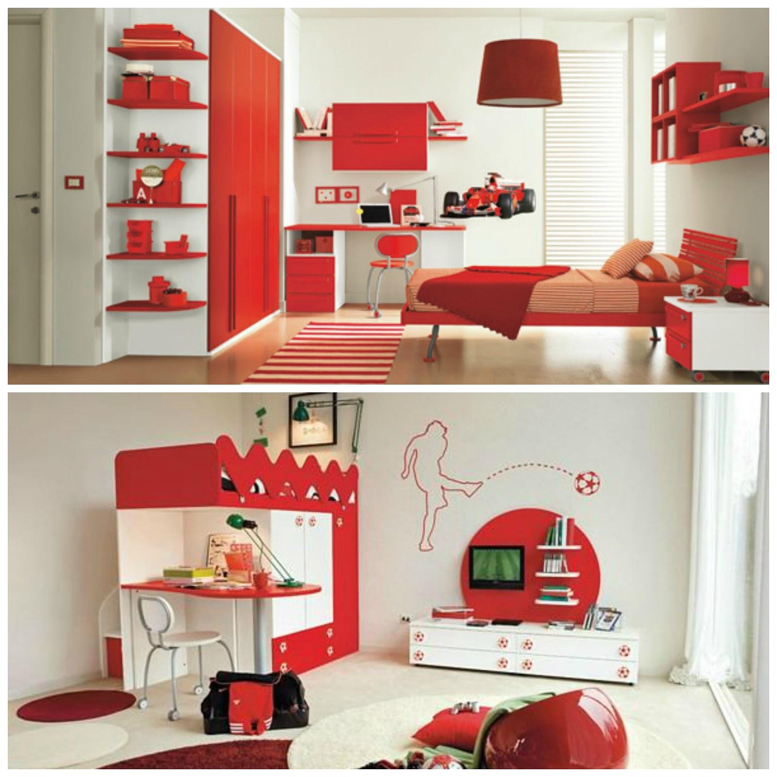 D a off ideas para un dormitorio en rojo mi vida en rojo for Ideas dormitorios juveniles