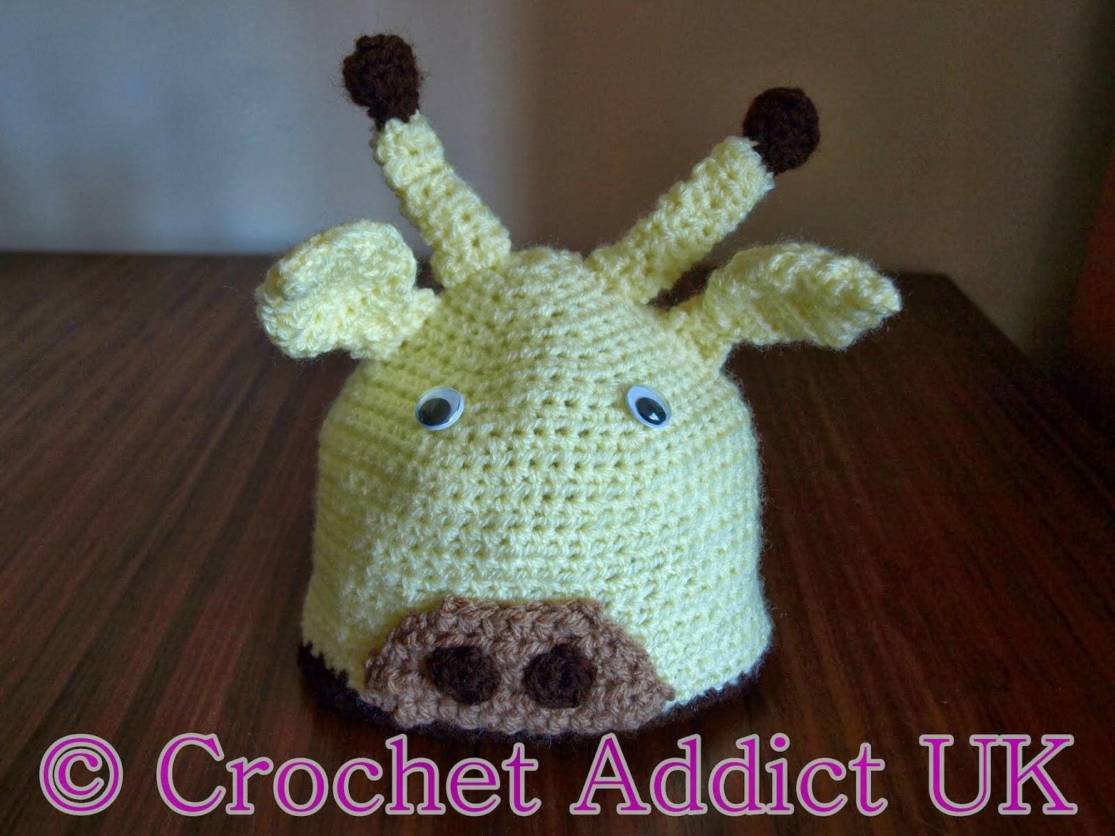 Free Crochet Pattern Giraffe Hat : #Giraffe #Baby #Beanie #Hat #Newborn - 12 months ~ #Free # ...