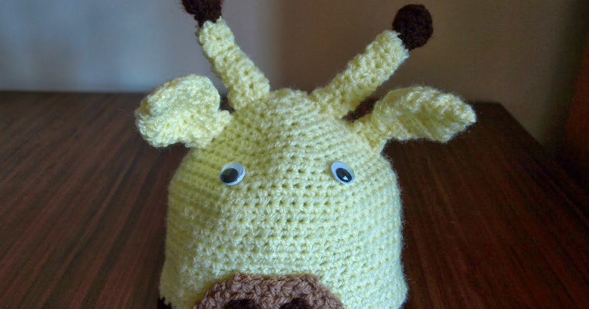 Baby Giraffe Hat Knitting Pattern : Crochet Addict UK: #Giraffe #Baby #Beanie #Hat #Newborn ...