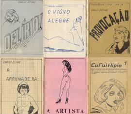 capas de várias revistas de Carlos Zéfiro