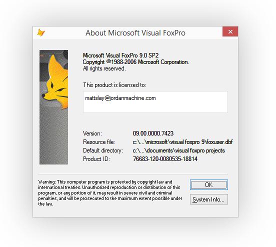 Microsoft Visual Foxpro Driver Windows 10
