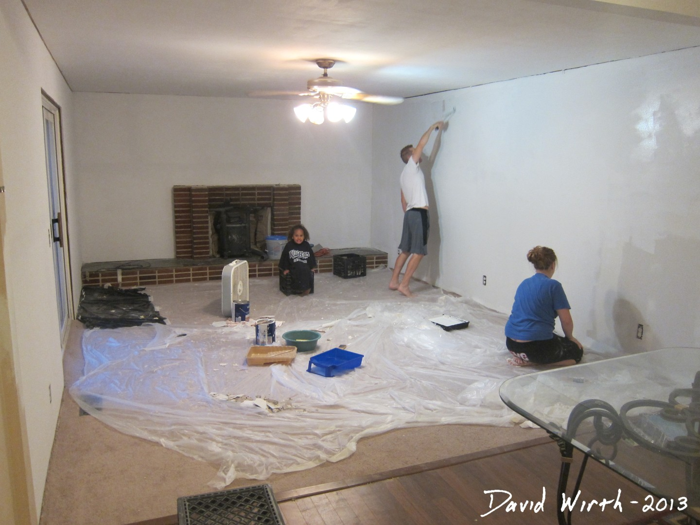 Family Room Drywall Trim Crown Molding And Paint