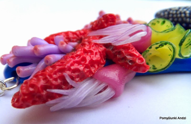 polymer clay, premo, fimo, stephanie kilgast, necklace, jewelry,