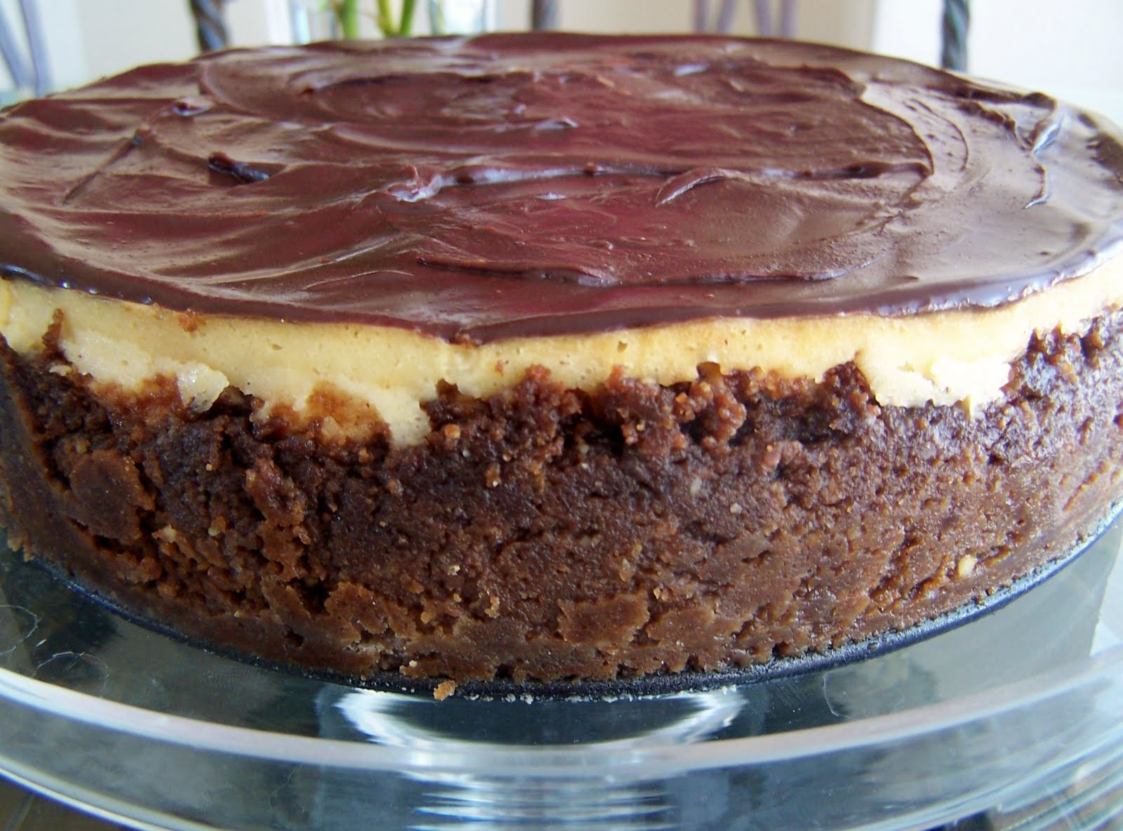 Becky Bakes: Dulce de' Leche Cheesecake with a Chili Chocolate Ganache