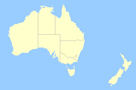 map of new zealand and australia