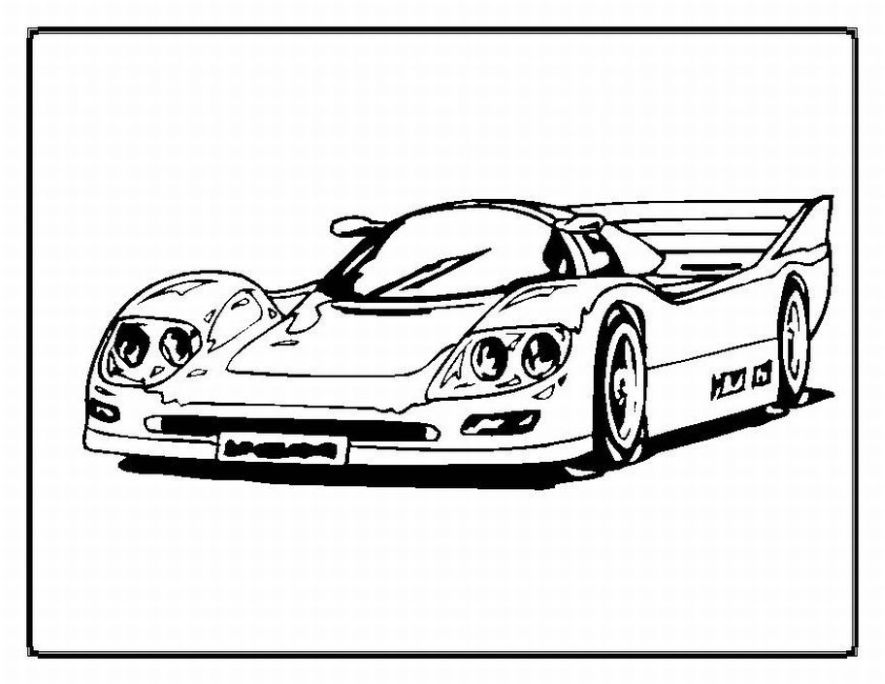 Cars coloring pages for kids picture 1