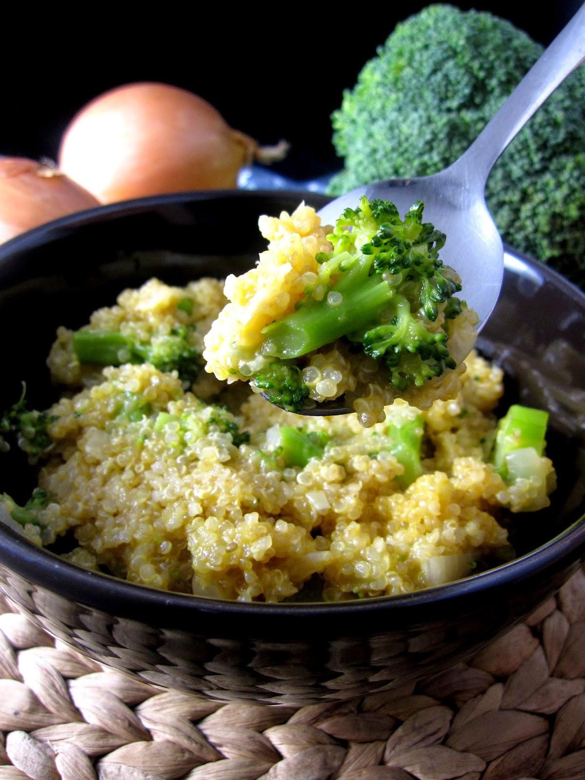 Cheesy Onion and Broccoli Quinoa