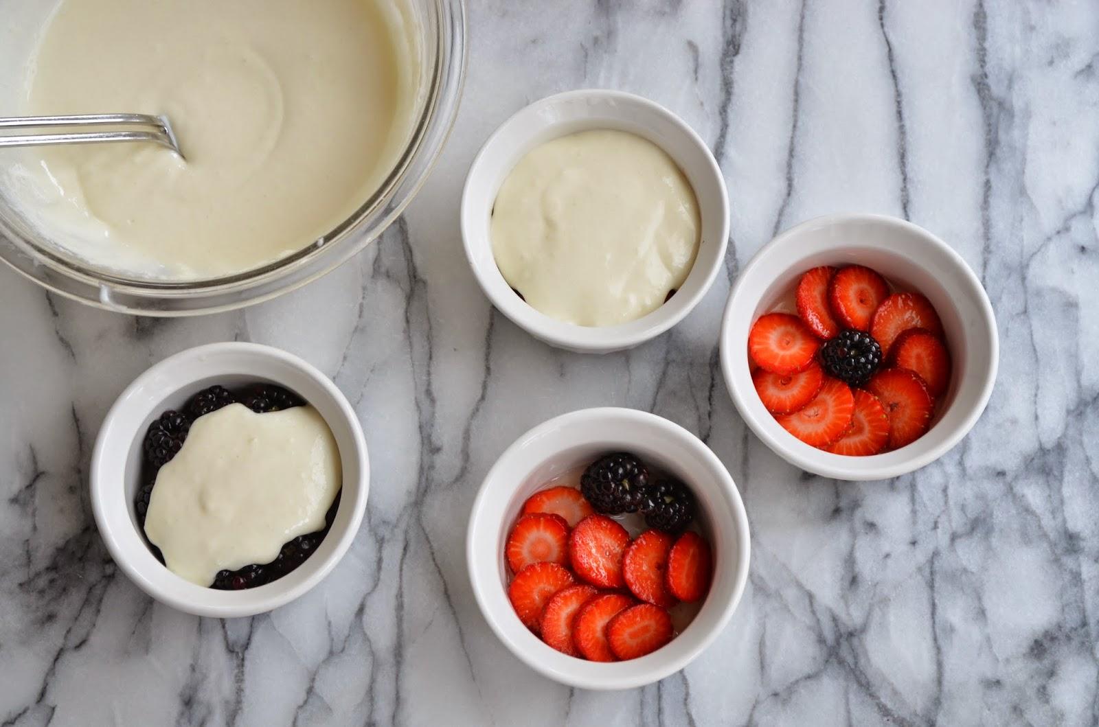 Yogurt Panna Cotta with Berries and Honey Gelee - Smell of Rosemary.