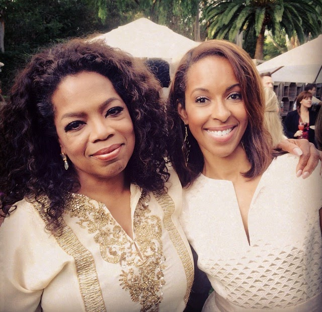 Oprah Winfrey and Leslie Gordon