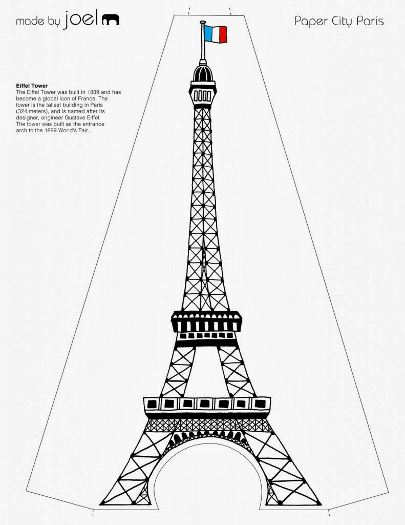 eiffel tower model template - pin eiffel tower paper model template pictures on pinterest