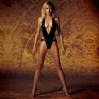 Tatiana Zavialova hot blonde Russian girls black swimsuit HQ HD picture
