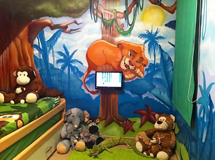 Decoracion Infantil Del Rey Leon ~   mural profesional en Barcelona Murales infantiles pintados a mano