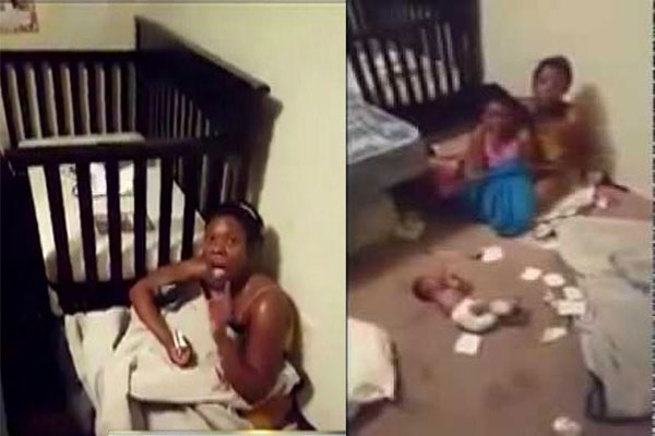Horrific Video of Mother Kicking and Throwing a 19 Day Old Baby Enrage Netizens