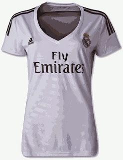 jersey ladies madrid, away, third, grade ori, online shop, tempat jual inline baju wanita bola, kaos bola wanita