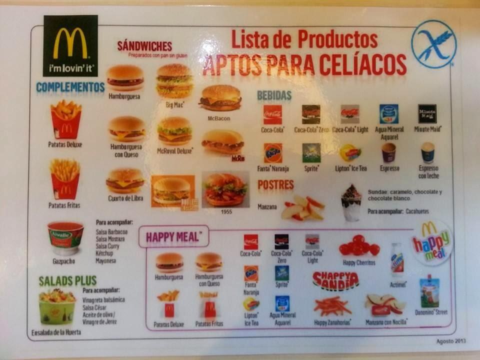 Sin gluten sin l cteos hamburguesas para cel acos sensibles al gluten en mcdonalds - Lista alimentos con gluten ...