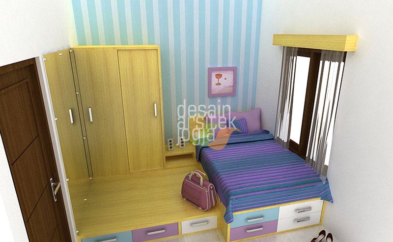 tips desain kamar tidur remaja warna ungu modern