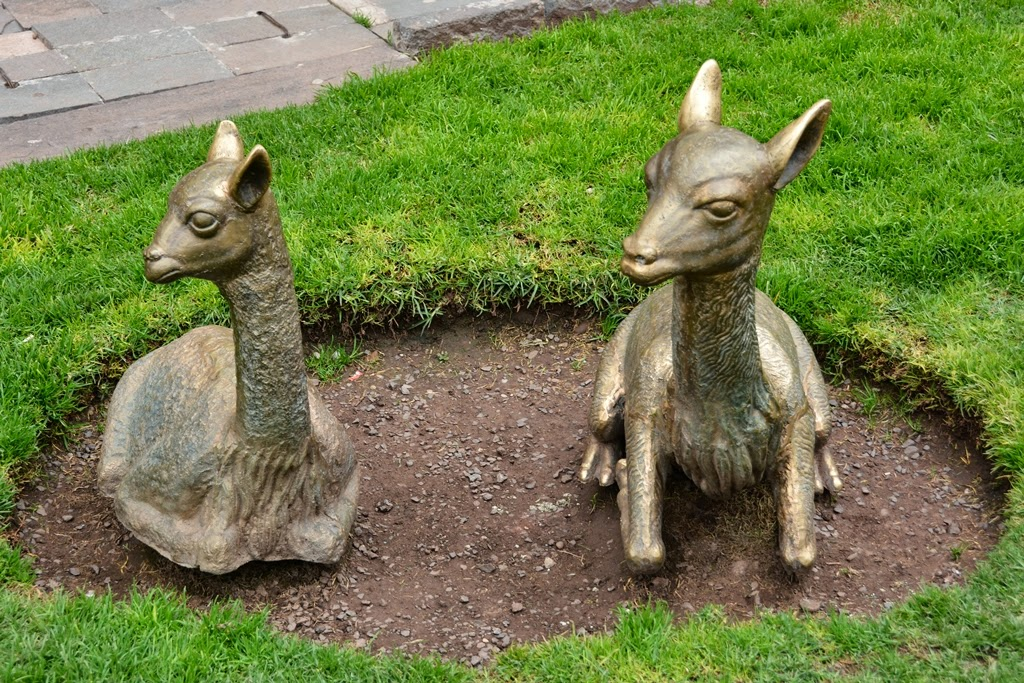 General Impressions of Cusco lama statues