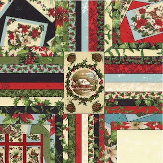 Moda SEASON'S GREETINGS Christmas Quilt Fabric by Sentimental Studios