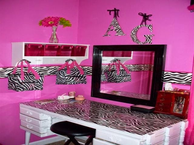hot pink zebra room paint ideas