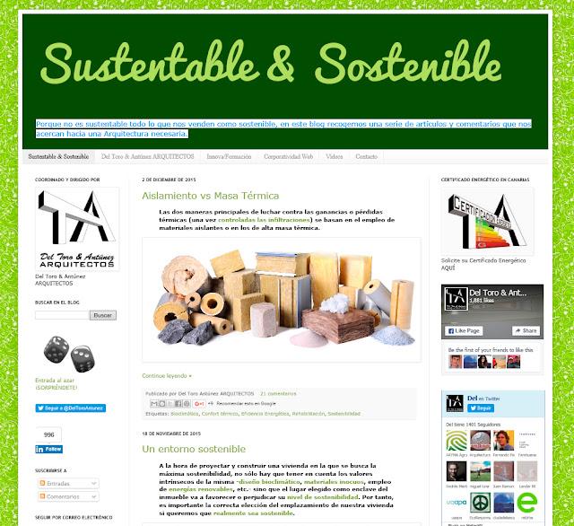 entrevista al Arquibloggers Eduardo M. del Toro del blog Sustentable & Sostenible por SF23 Arquitectos Segovia