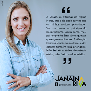 Janaina Riva é fundadora da Juventude do PSD MT e Deputada Estadual eleita com 48.171 votos, noPSD