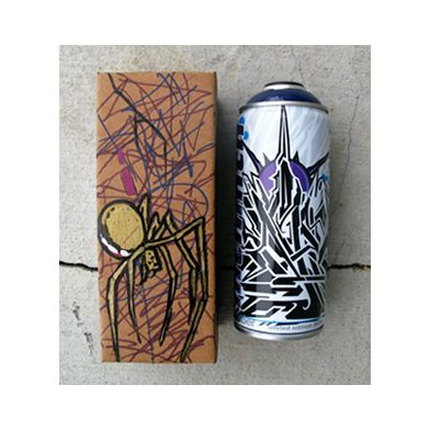 spray paint can it comes signed tagged and decorated can box by. Black Bedroom Furniture Sets. Home Design Ideas