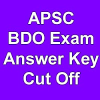 APSC BDO Official Answer Key Expected Cut off marks 2015