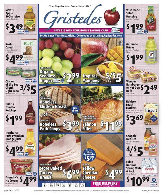 CHECK OUT ROOSEVELT ISLAND GRISTEDES Products, SALES & SPECIALS For August 17 - August 23