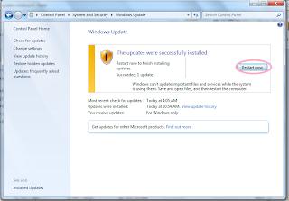 cara update windows 7 gambar