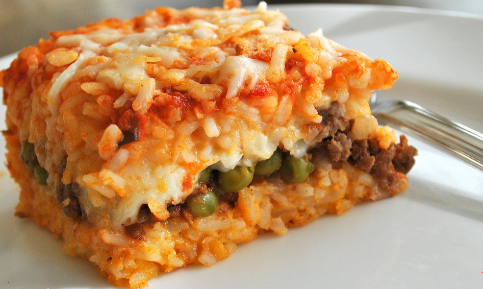 Sicilian Rice Ball Casserole | Weight Watchers Recipes