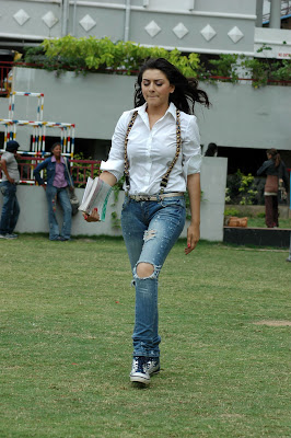 Hansika Motwani Hot in Teared Jeans Photos