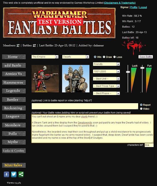 Sigmar's WFB Recorder - Add Battle