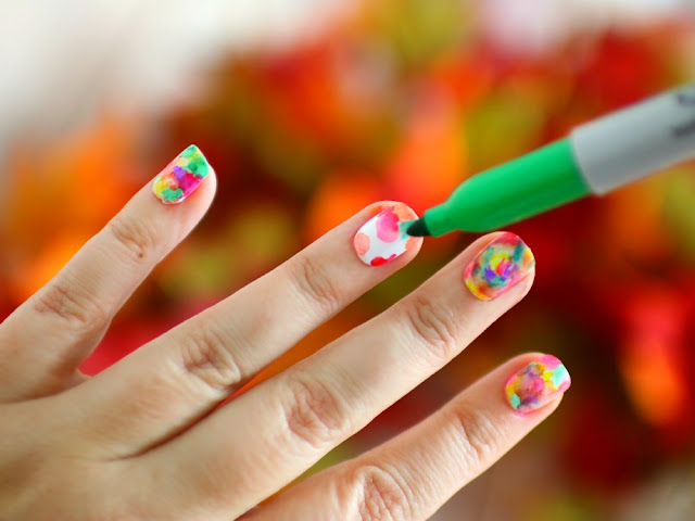 nail art hacks sharpies