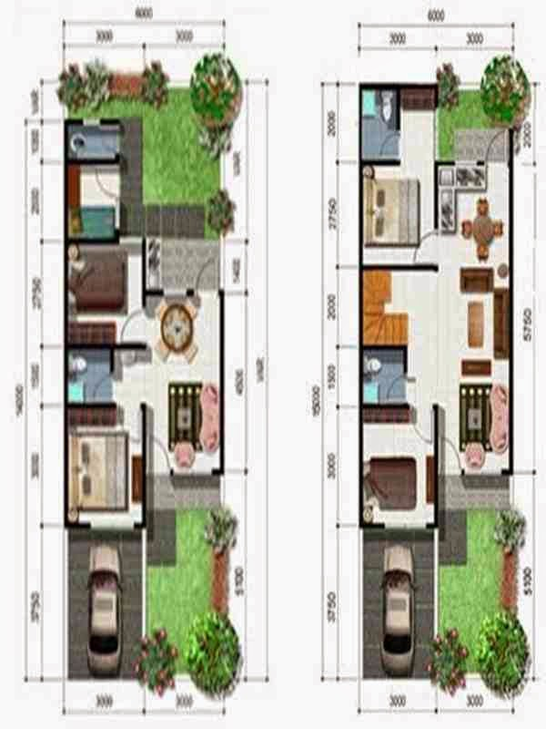 desain rumah minimalis 2 lantai 4 kamar tidur foto