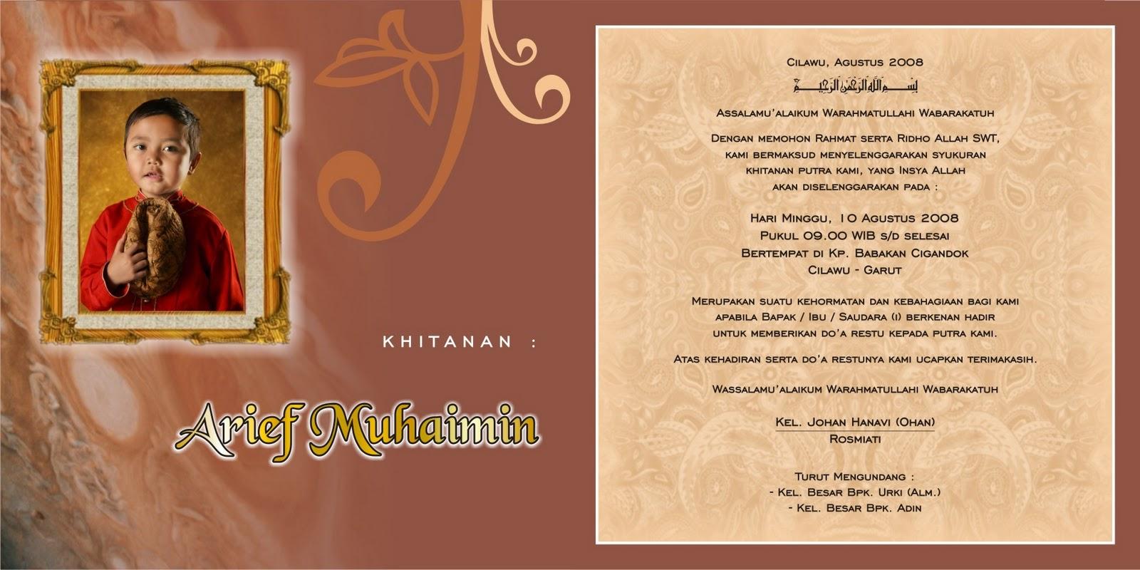 Undangan Pernikahan Design Surat