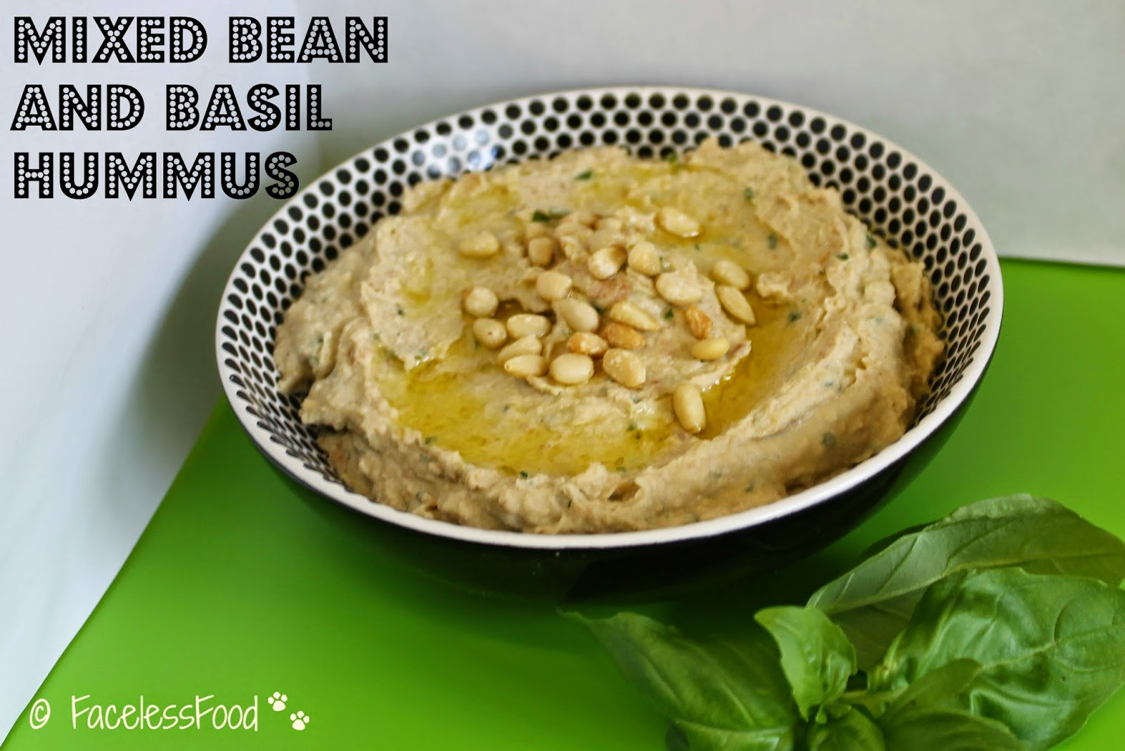 Mixed Bean and Basil Hummus