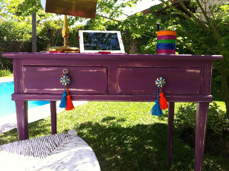 Vintouch muebles reciclados pintados a mano - Escritorio vintage ...