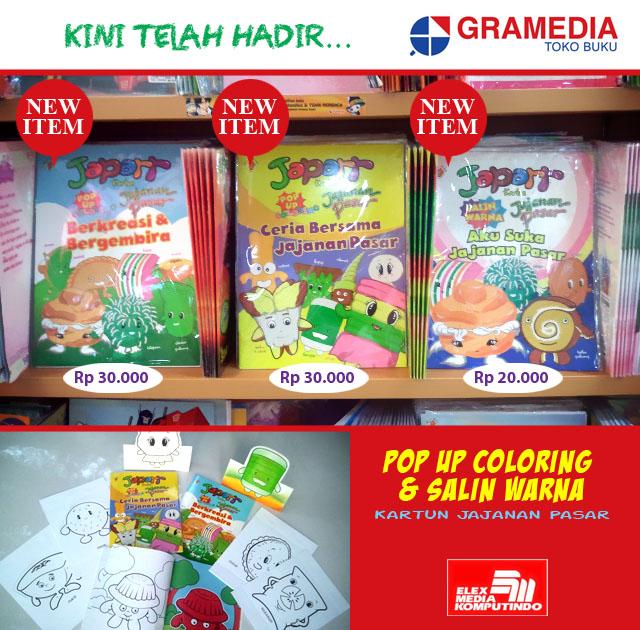 Japarr Kartun Jajanan Pasar Pop Up Coloring Book