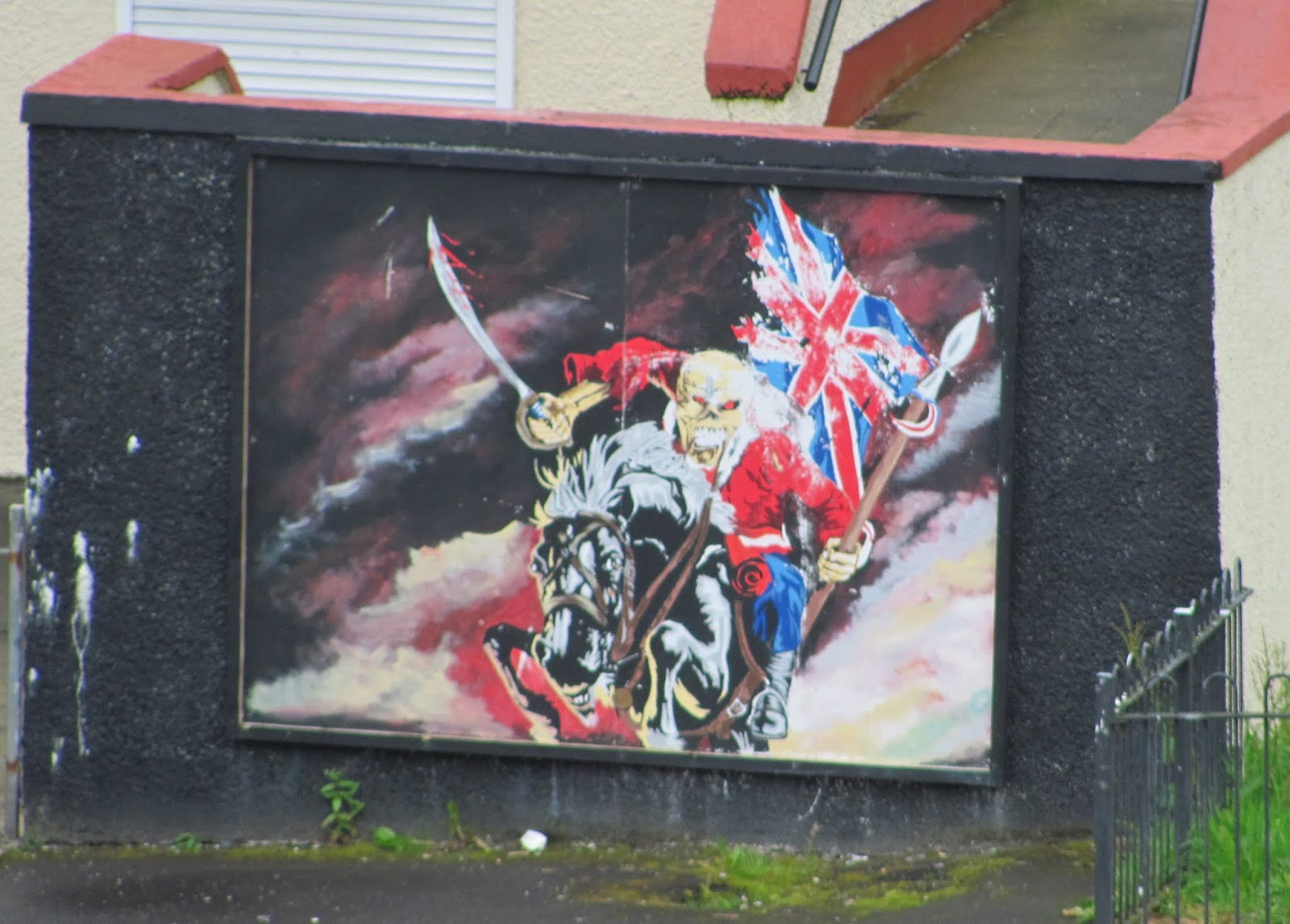 Iron Maiden's Eddie Hoover, Symbol of Britain's Military Might in Derry, Northern Ireland