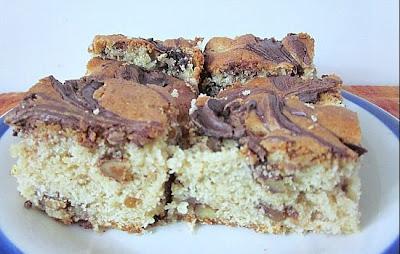 Chocolate Marbled Pear Bars