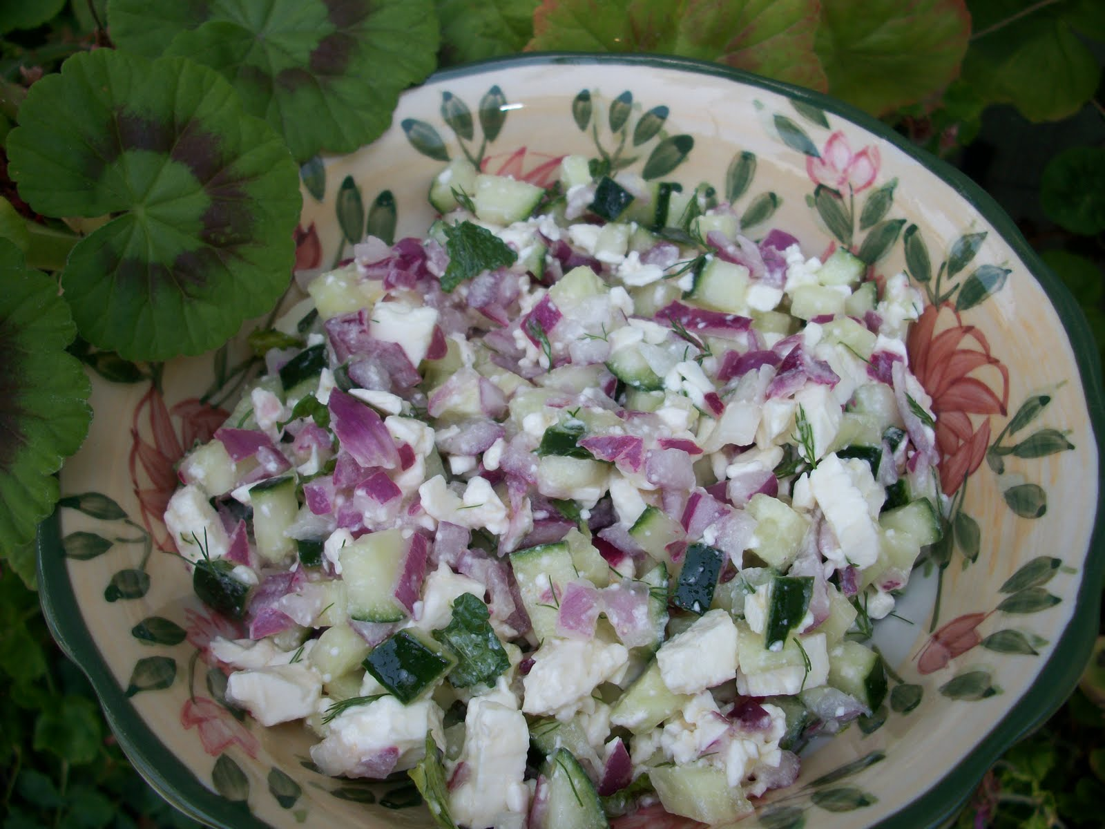 Pomegranates and Zaatar: Michoteta (Egyptian Cucumber and Feta Salad)