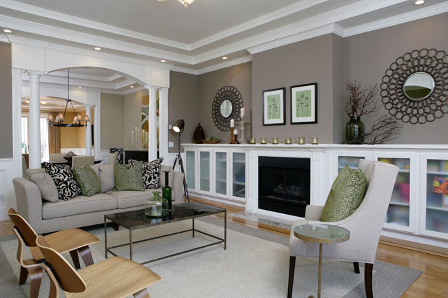 Grey Living Room Paint Color 650 x 433